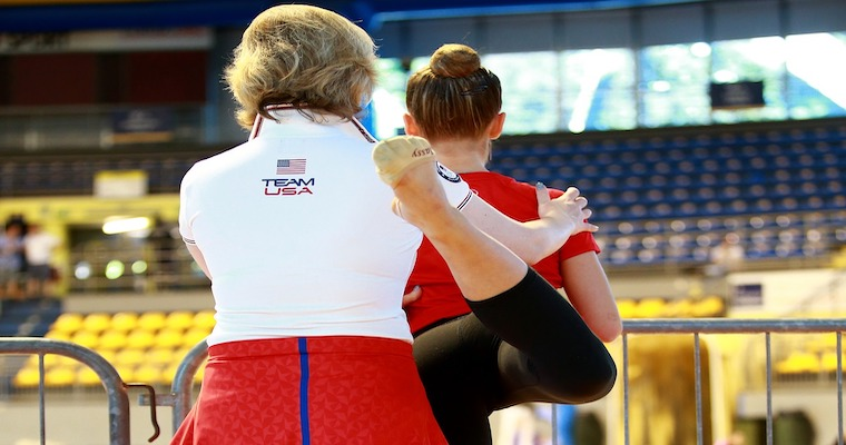 Sport Leadership in Action - A Coach Helping an Athlete