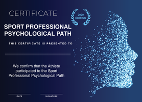 The first Certificate for Athletes