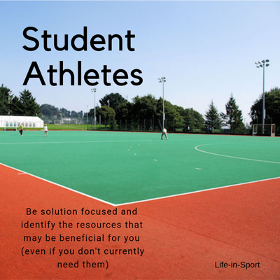 Student athletes - Identify your support network